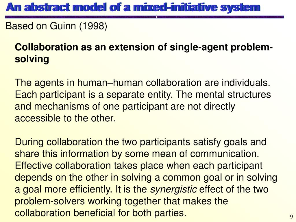 An abstract model of a mixed-initiative system