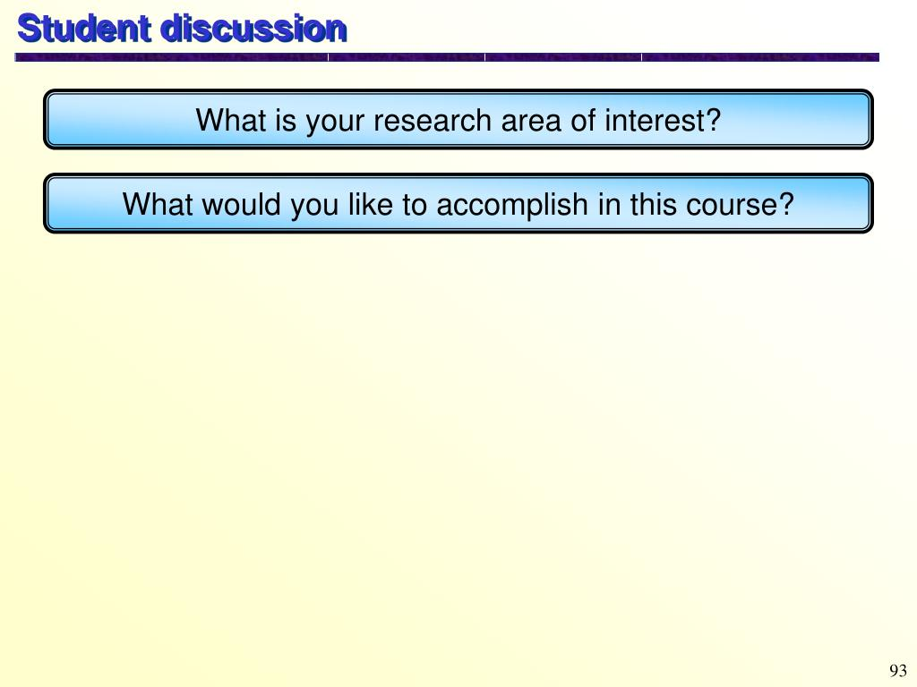 Student discussion