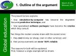 1 outline of the argument9