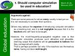 5 should computer simulation be used in education46