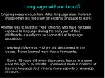 language without input5