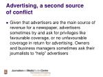advertising a second source of conflict