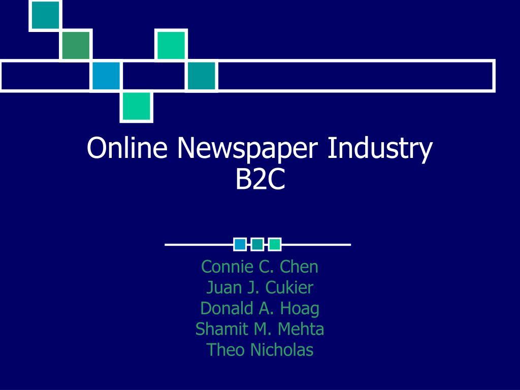 online newspaper industry b2c l.