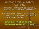 outras desigualdades 1999 2005