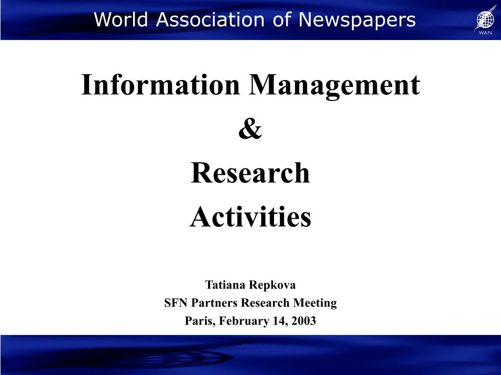 world association of newspapers l.