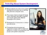 think big about system development