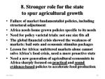 8 stronger role for the state to spur agricultural growth