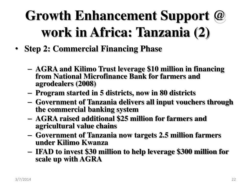 Growth Enhancement Support @ work in Africa: Tanzania (2)