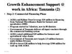 growth enhancement support @ work in africa tanzania 2