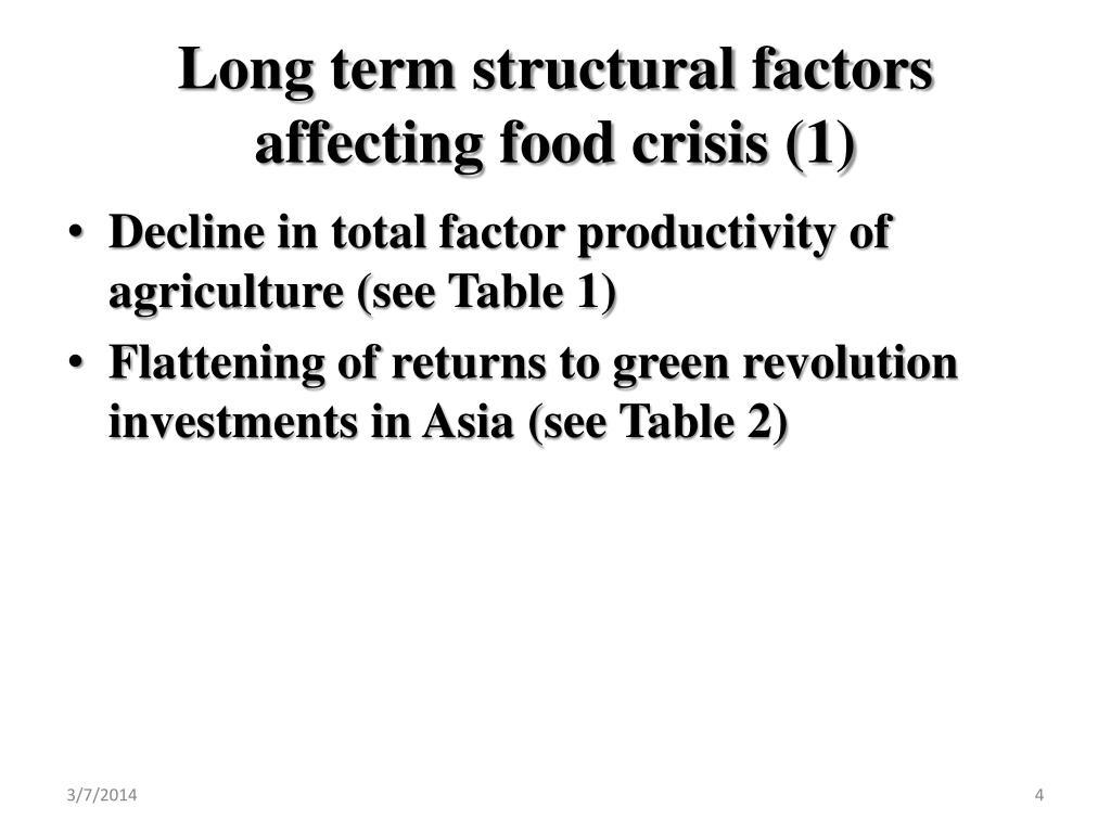 Long term structural factors affecting food crisis (1)