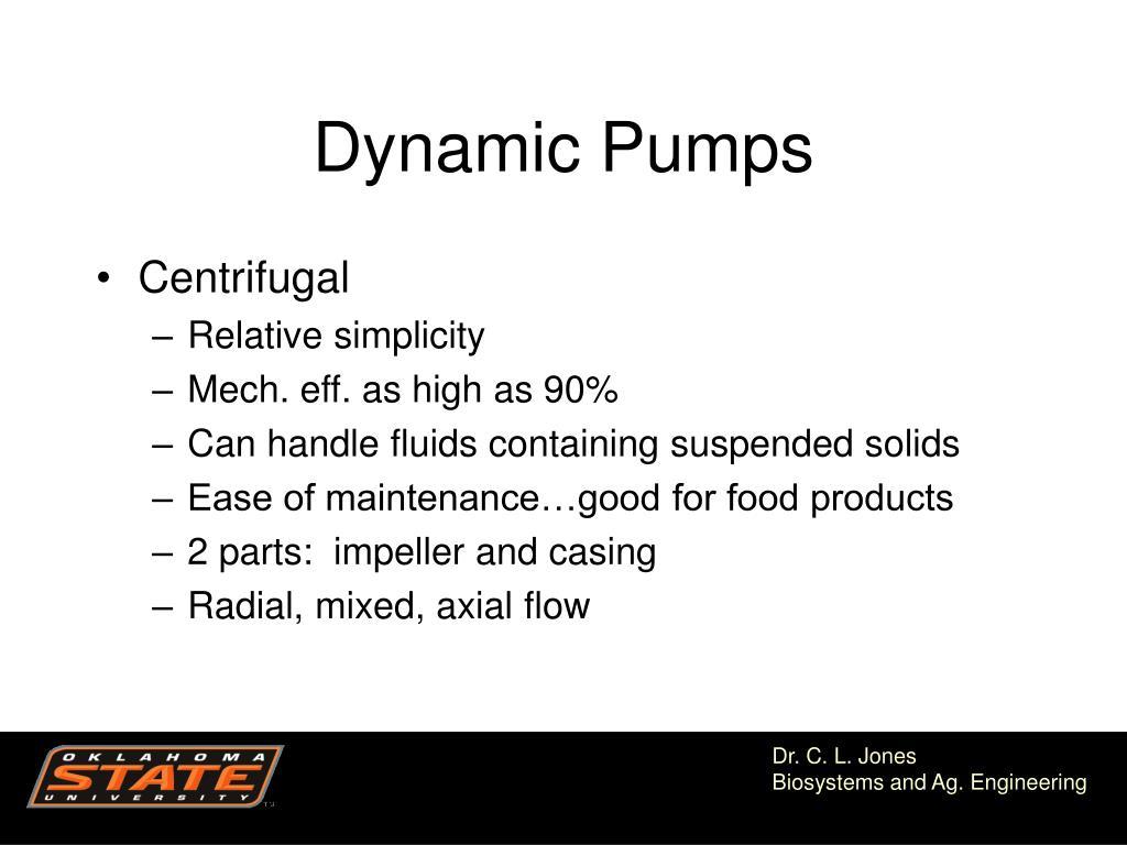 Dynamic Pumps