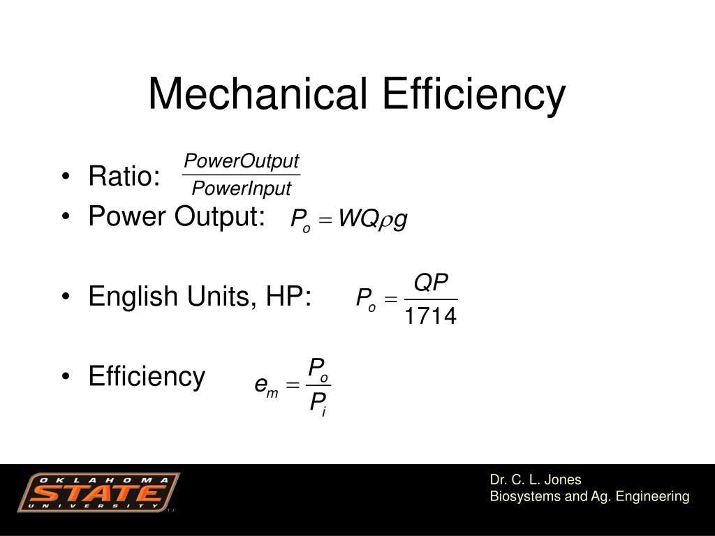Mechanical Efficiency
