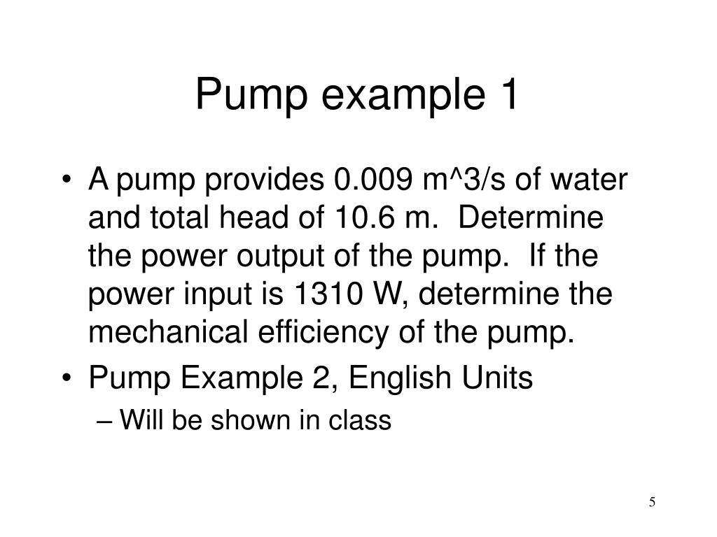 Pump example 1
