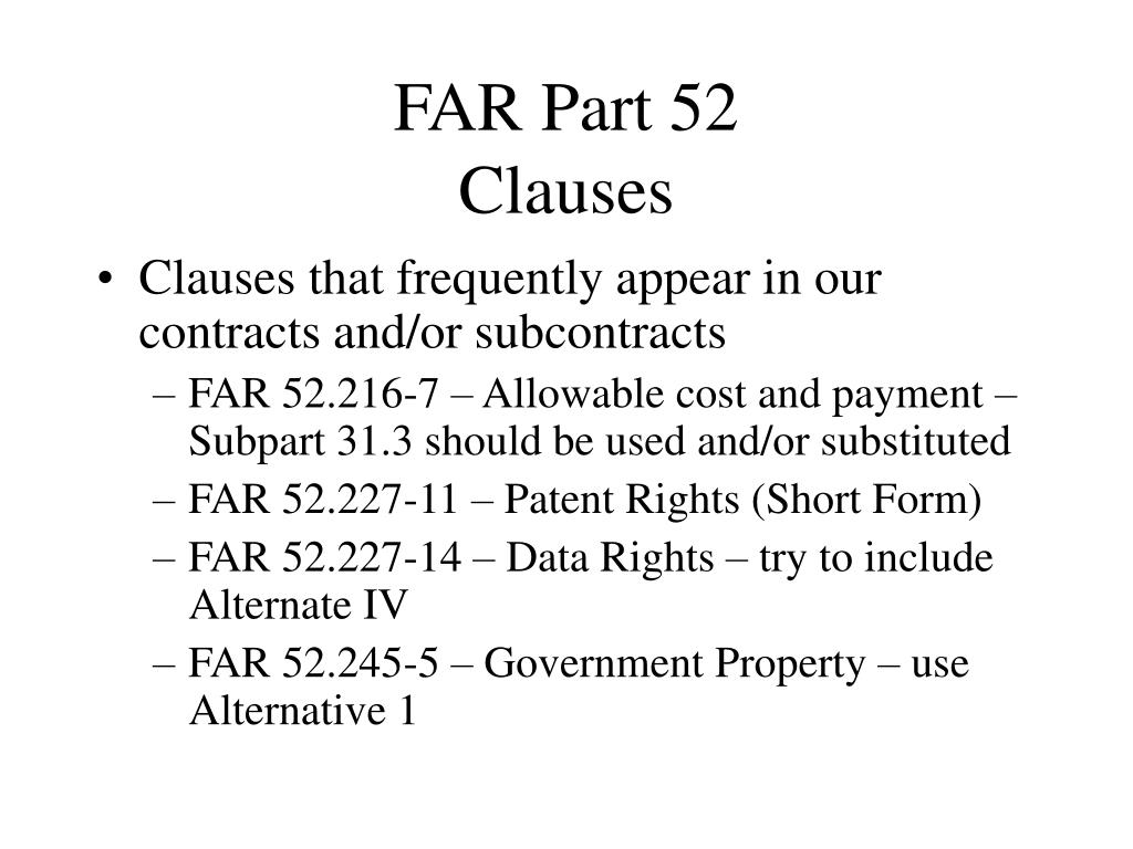 PPT - Introduction to the Federal Acquisition Regulations