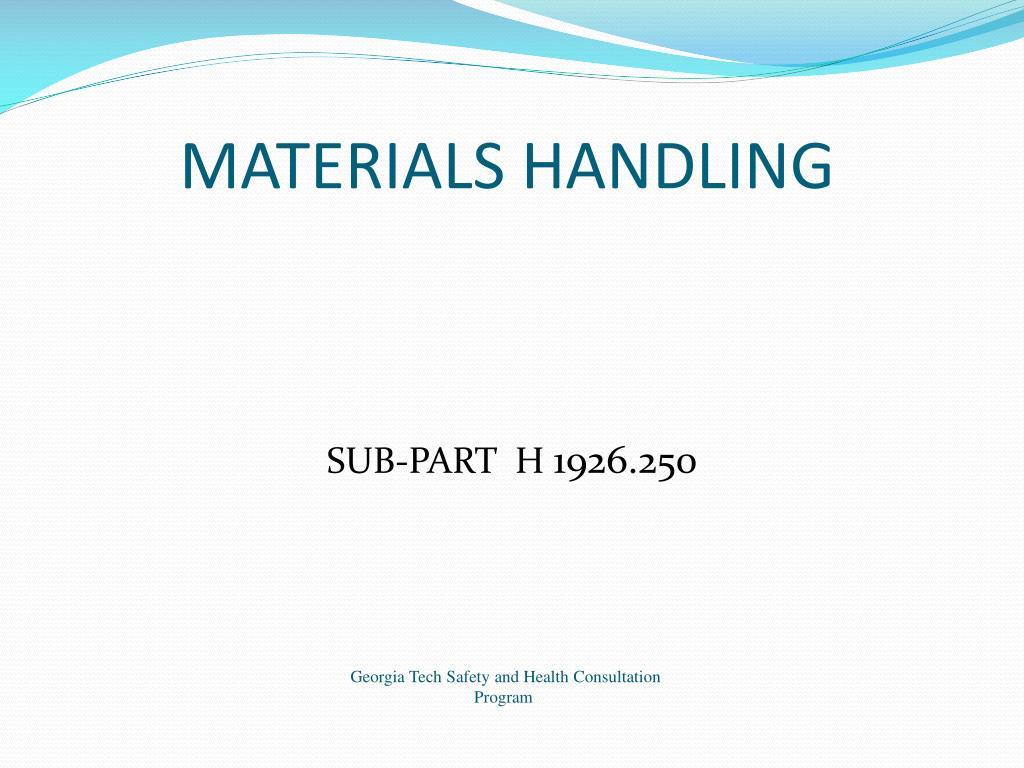 materials handling l.