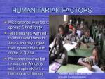 humanitarian factors