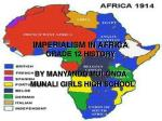 imperialism in africa grade 12 history