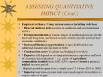 assessing quantitative impact cont10
