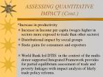 assessing quantitative impact cont11