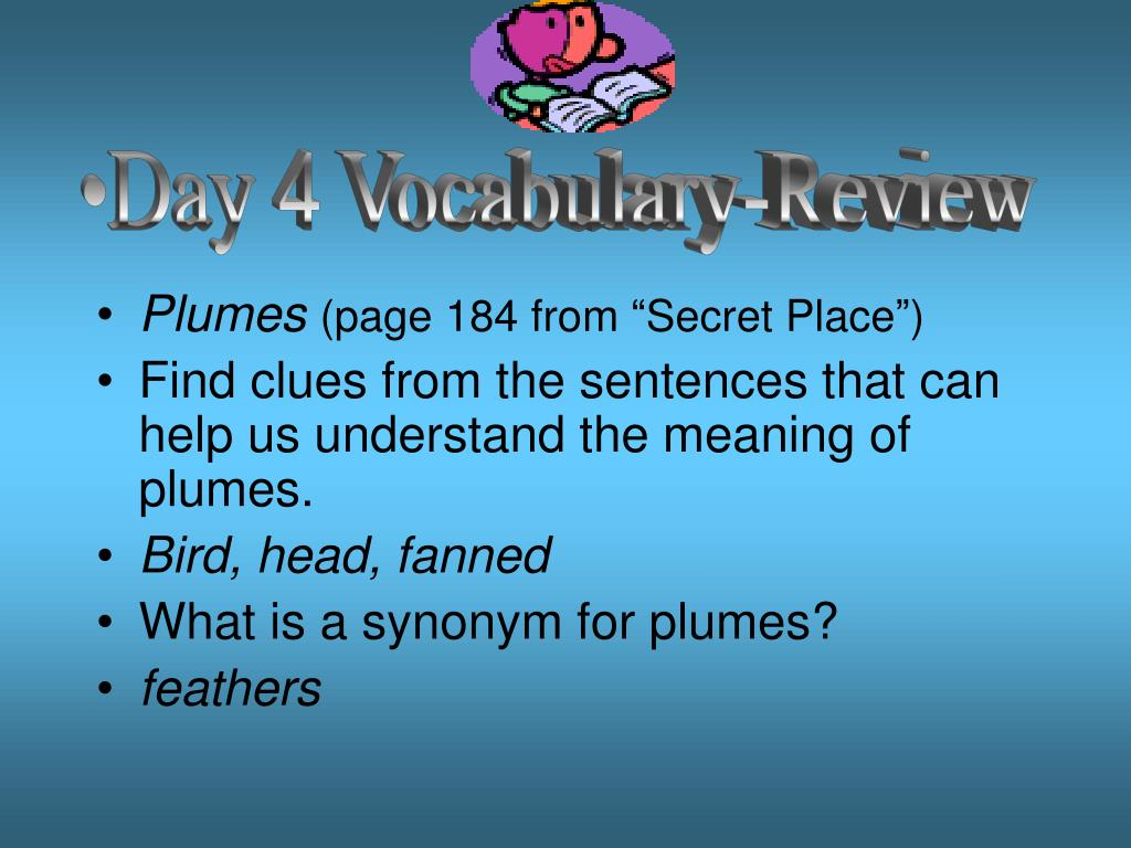 Day 4 Vocabulary-Review