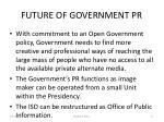 future of government pr