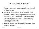 west africa today