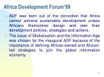 africa development forum 9928