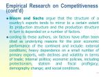empirical research on competitiveness cont d44