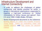 infrastructure development and internet connectivity19