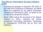 the african information society initiative aisi10