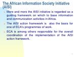 the african information society initiative aisi12