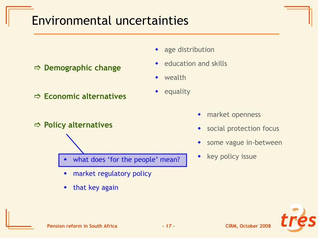 Environmental uncertainties
