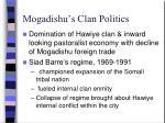 mogadishu s clan politics