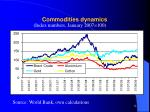 commodities dynamics