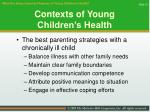 contexts of young children s health31