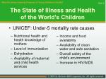 the state of illness and health of the world s children