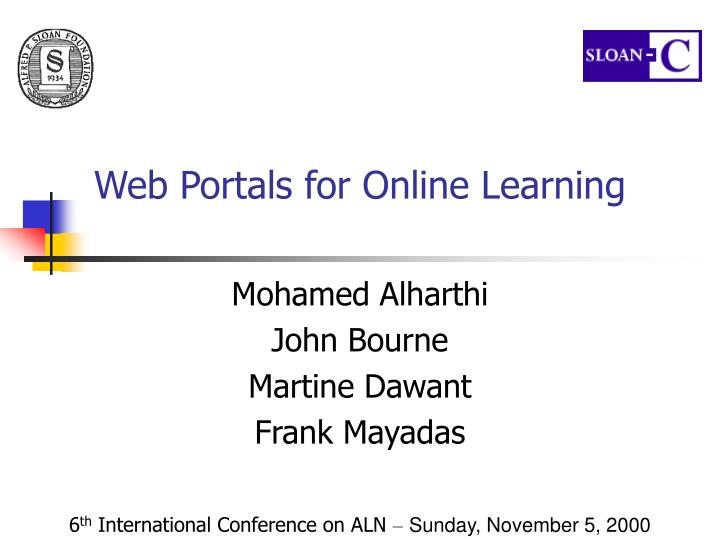 web portals for online learning n.
