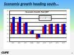economic growth heading south