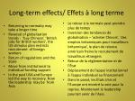 long term effects effets long terme15