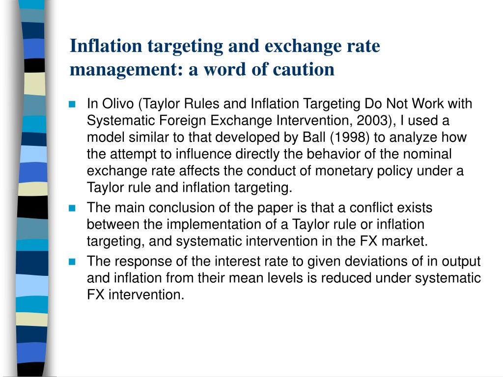 Inflation targeting and exchange rate management: a word of caution