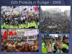 g20 protests in europe 2009