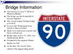 bridge information