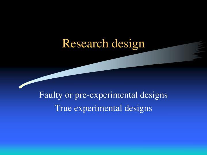 research design n.