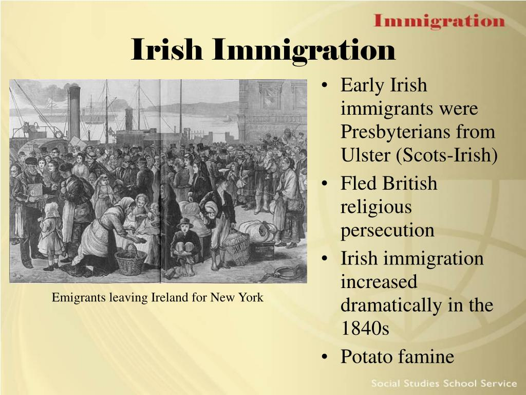 an overview of the history of the scotch irish immigration in american The scots-irish in the southern united states: an overview  migration within the american colonies  the scotch-irish, a social history, .