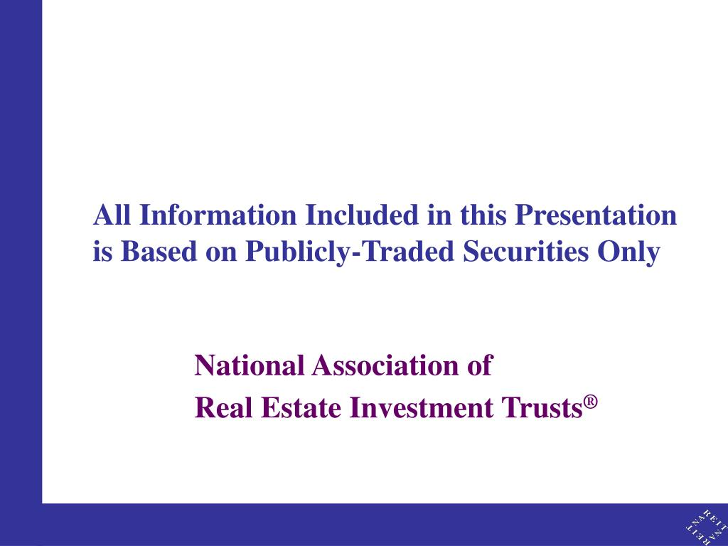 All Information Included in this Presentation