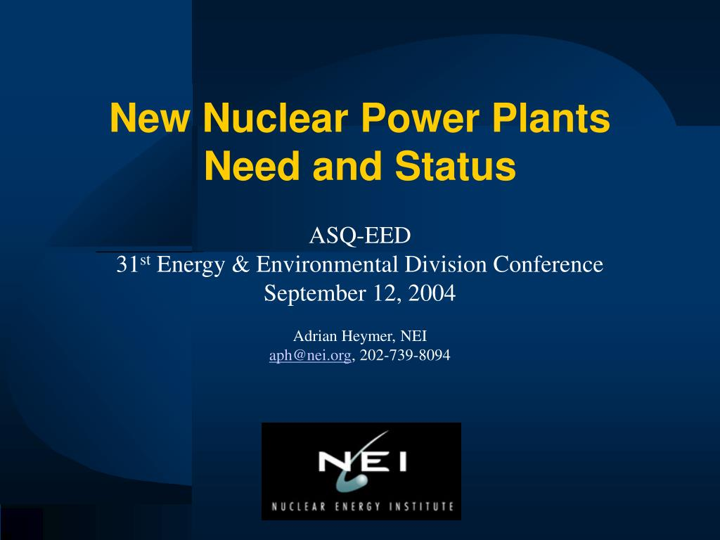 new nuclear power plants need and status l.