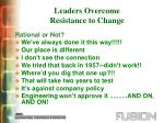 leaders overcome resistance to change