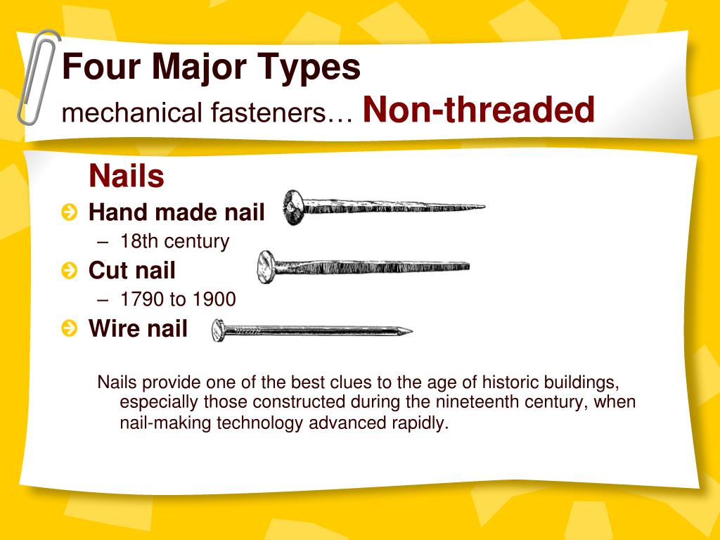PPT - Basic Mechanical Fasteners PowerPoint Presentation - ID:328118