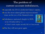 the problem of current account imbalances