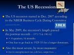 the us recession